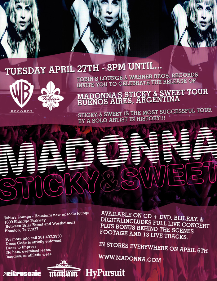 Madonna SS Flyer 01 WEB Claires Lounge Houston