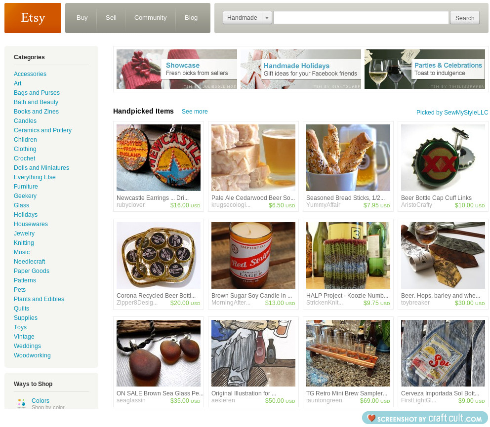 Etsy Home Page Envisioning The Leap to Selling on Etsy; Making Money + Why Consumers Enjoy Etsy So Much