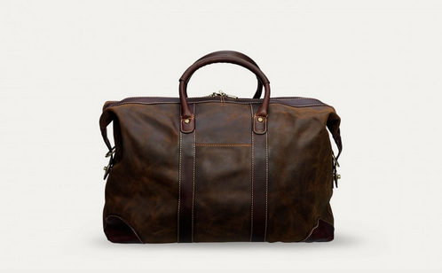 Baron WeekendBag Superb Weekend Travel Wares: Brown Suede bag by Baron