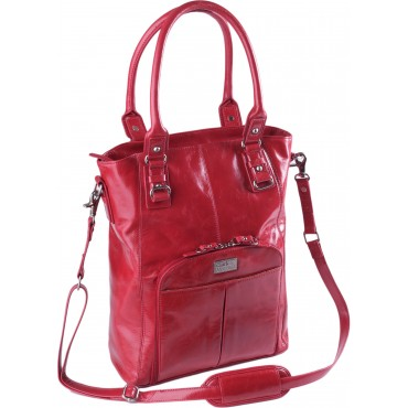 labtoptote irvington crossbody 13.3 laptop bag red front Clark & Mayfield Irvington Crossbody Laptop Tote